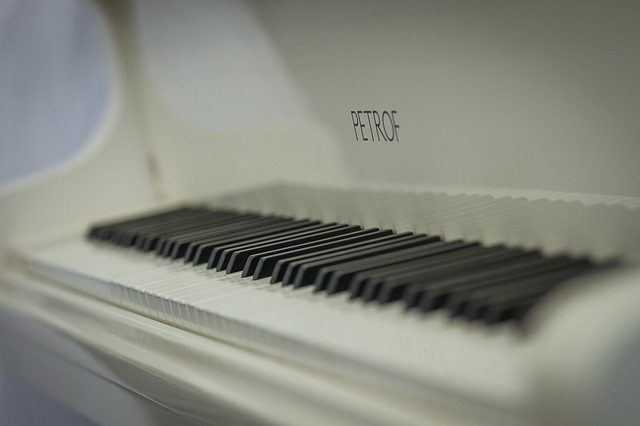 Secondhand White Baby Grand